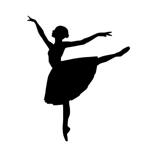 DANCE03 BW Clip Art - Get Started At ThatShirt!