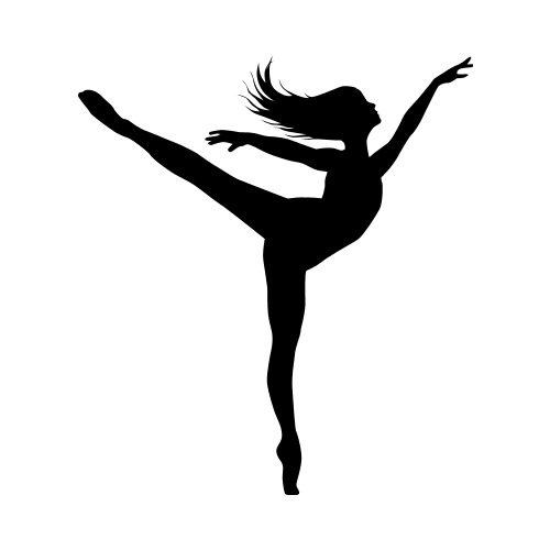 DANCE26 BW Clip Art - Get Started At ThatShirt!