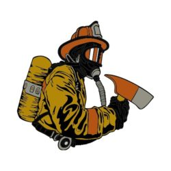 ThatShirt T-Shirt Clip Art - Fire - FIREFIGHTER15