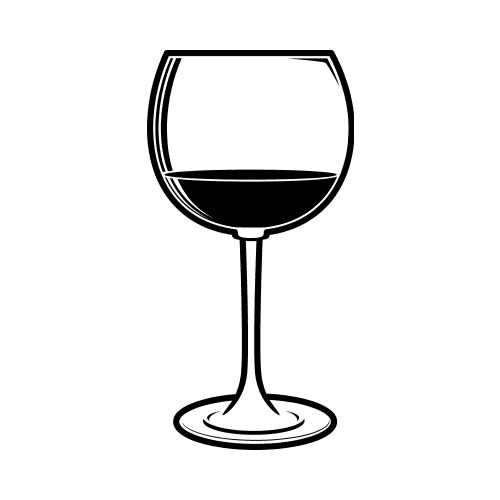 wine glass bw clip art get started at thatshirt. Black Bedroom Furniture Sets. Home Design Ideas
