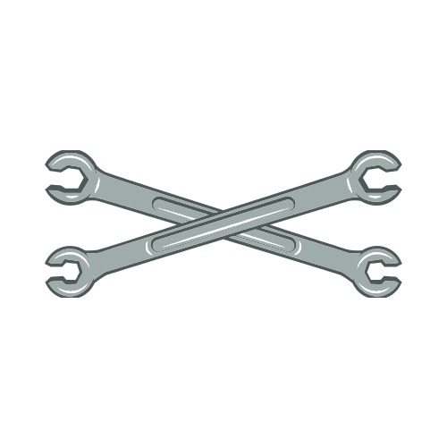 Wrenches Crossed C2 Clip Art Get Started At Thatshirt