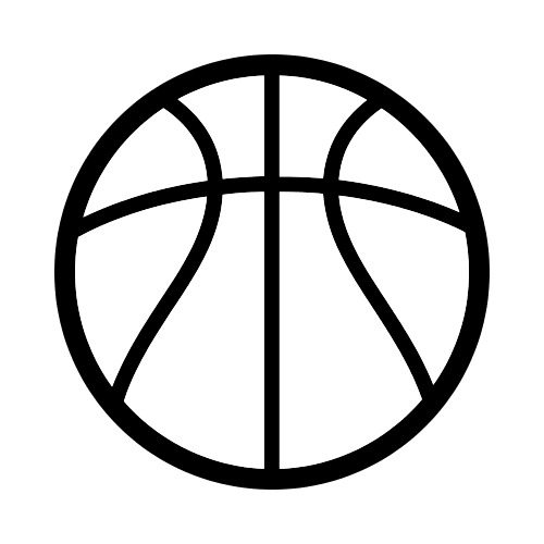 BASKETBALL BW Clip Art - Get Started At ThatShirt!