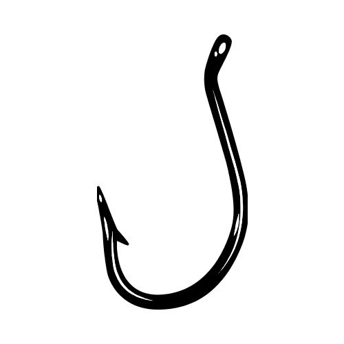 fish hook bw clip art get started at thatshirt rh thatshirt com fishing hook clipart free fishing line and hook clipart
