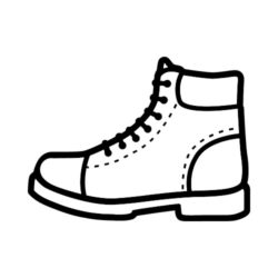 ThatShirt T-Shirt Clip Art - Outdoors - HIKING_BOOT_BW
