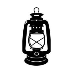 ThatShirt T-Shirt Clip Art - Outdoors - LANTERN_BW