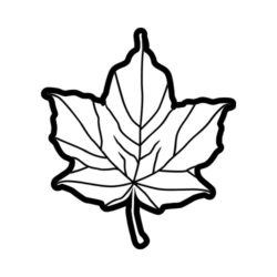 ThatShirt T-Shirt Clip Art - Outdoors - MAPLE_LEAF_BW