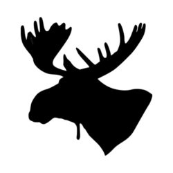 ThatShirt T-Shirt Clip Art - Outdoors - MOOSE_HEAD_BW
