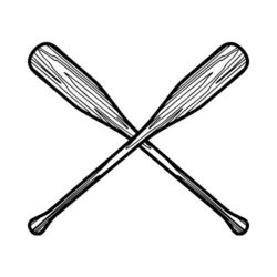 ThatShirt T-Shirt Clip Art - Outdoors - OARS_BW