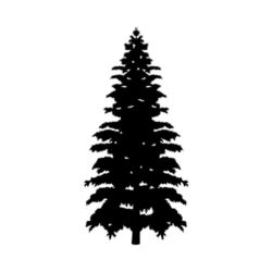 ThatShirt T-Shirt Clip Art - Outdoors - PINE_TREE_BW