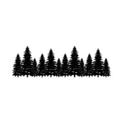 ThatShirt T-Shirt Clip Art - Outdoors - TREELINE_BW
