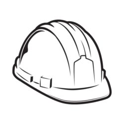 ThatShirt T-Shirt Clip Art - Safety - HARD_HAT_BW