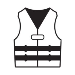 ThatShirt T-Shirt Clip Art - Safety - LIFE_JACKET_BW