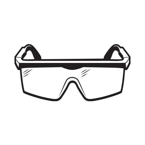 safety goggles bw clip art get started at thatshirt rh thatshirt com wear safety goggles clipart safety eyewear clipart