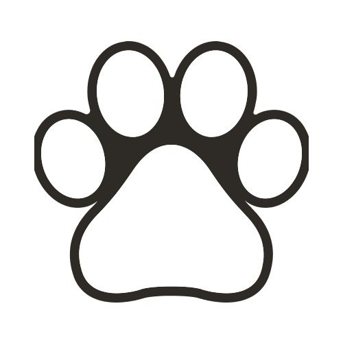 Pet Paw Print Bw Clip Art Get Started At Thatshirt