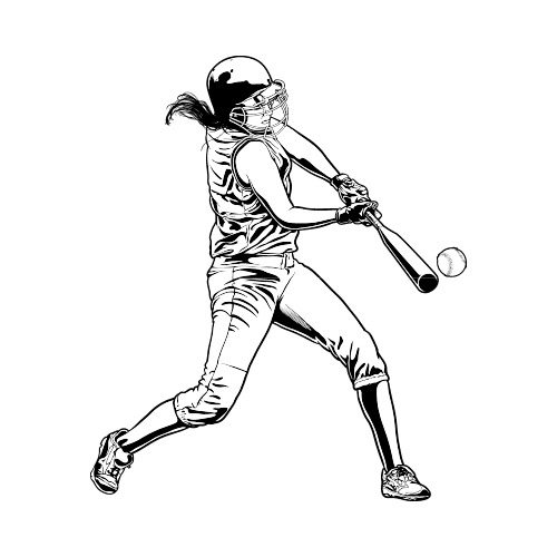 Softball With Flames Clipart Black A #80904 - PNG Images - PNGio