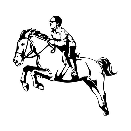 EQUESTRIAN BW Clip Art Get Started At ThatShirt