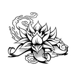 ThatShirt T-Shirt Clip Art - Tattoo - ES4LOTUS01BW