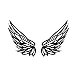 ThatShirt T-Shirt Clip Art - Wings - WING05