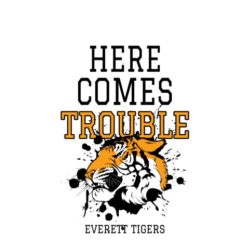 thatshirt t-shirt design ideas - Slogans - Here Comes Trouble