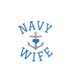 thatshirt t-shirt design ideas - Support/Family - Navy Wife