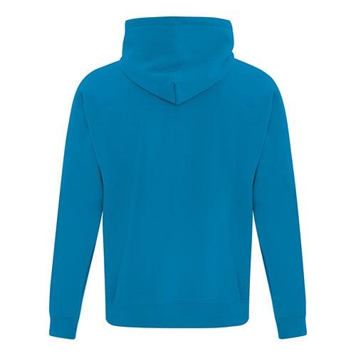 Custom Printed ATC Everyday Fleece Hooded Sweatshirt F2500 - 16 - Back View   ThatShirt