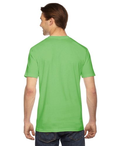 Custom Printed American Apparel 2001W Unisex Fine Jersey Short-Sleeve T-Shirt - 10 - Back View | ThatShirt