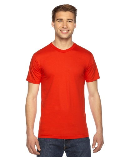 Custom Printed American Apparel 2001W Unisex Fine Jersey Short-Sleeve T-Shirt - Front View | ThatShirt