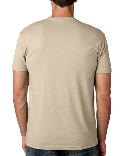 Custom Printed Next Level 3600 Premium Unisex Cotton T-Shirt - 4 - Back View | ThatShirt