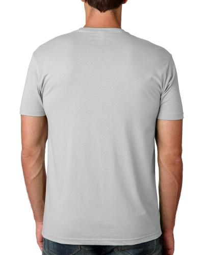 Custom Printed Next Level 3600 Premium Unisex Cotton T-Shirt - 7 - Back View   ThatShirt