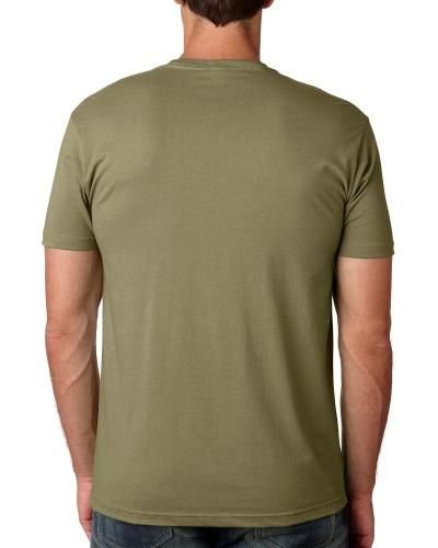 Custom Printed Next Level 3600 Premium Unisex Cotton T-Shirt - 9 - Back View | ThatShirt