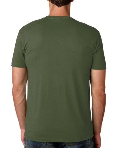 Custom Printed Next Level 3600 Premium Unisex Cotton T-Shirt - 16 - Back View | ThatShirt