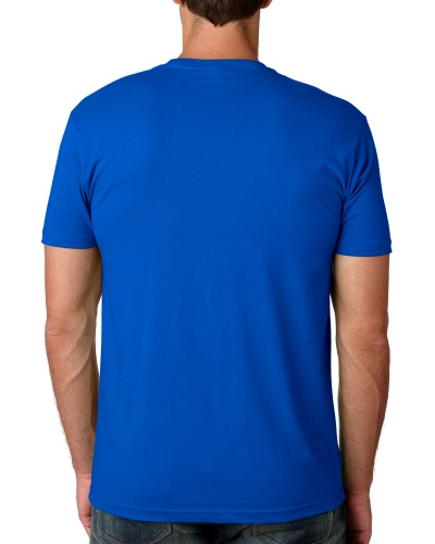 Custom Printed Next Level 3600 Premium Unisex Cotton T-Shirt - 12 - Back View   ThatShirt