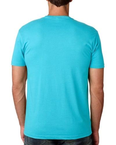 Custom Printed Next Level 3600 Premium Unisex Cotton T-Shirt - 18 - Back View   ThatShirt