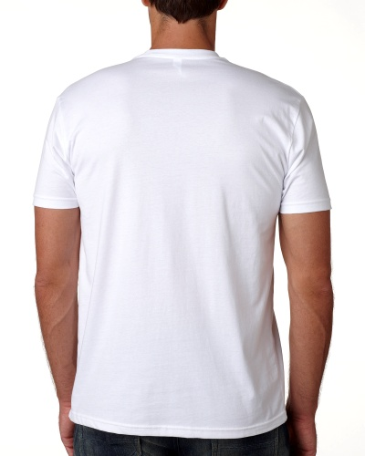 Custom Printed Next Level 3600 Premium Unisex Cotton T-Shirt - 0 - Back View | ThatShirt