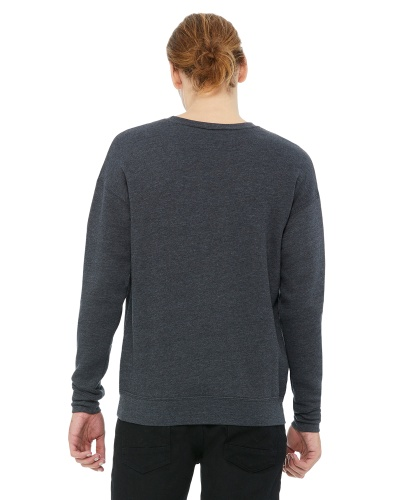 Custom Printed Bella + Canvas 3945 Unisex Drop Shoulder Fleece - 2 - Back View | ThatShirt