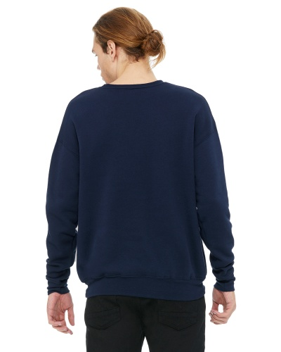Custom Printed Bella + Canvas 3945 Unisex Drop Shoulder Fleece - 1 - Back View | ThatShirt