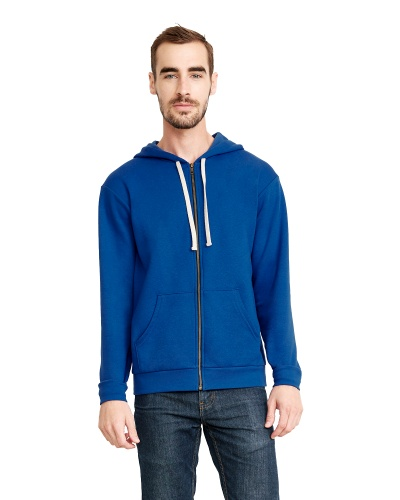 Custom Printed Next Level 9602 Premium Unisex Zip Hoody - Front View | ThatShirt