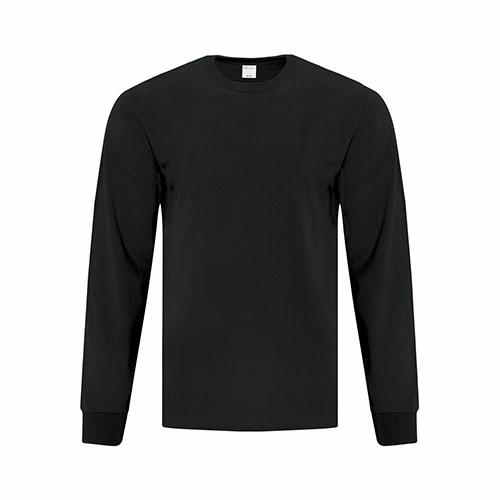 Custom Printed ATC1015 Everyday Cotton Long sleeve Tee - Front View   ThatShirt