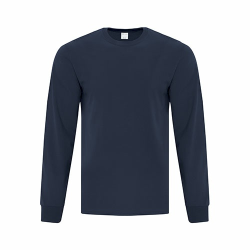 Custom Printed ATC1015 Everyday Cotton Long sleeve Tee - Front View | ThatShirt