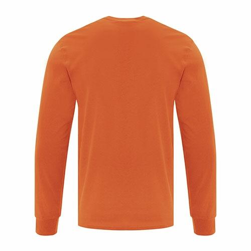 Custom Printed ATC1015 Everyday Cotton Long sleeve Tee - 7 - Back View | ThatShirt