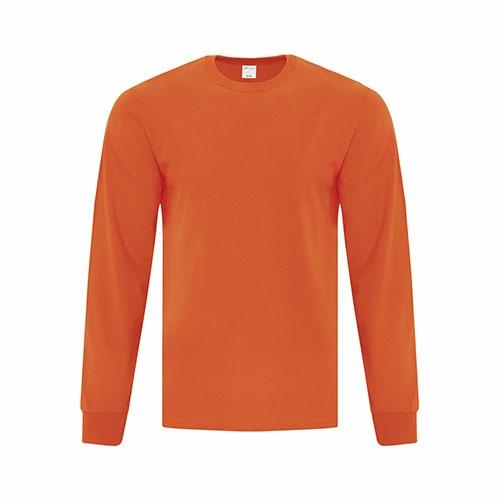 Custom Printed ATC1015 Everyday Cotton Long sleeve Tee - Front View | ThatShirt