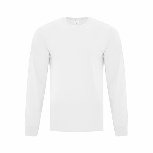 Custom Printed ATC1015 Everyday Cotton Long sleeve Tee - 12 - Front View | ThatShirt