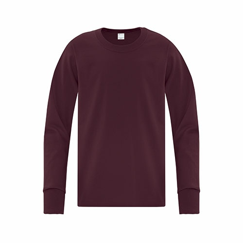 Custom Printed ATC 1015Y Everyday Cotton Long Sleeve Youth Tee - Front View   ThatShirt