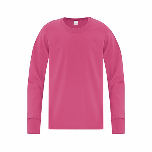 Custom Printed ATC 1015Y Everyday Cotton Long Sleeve Youth Tee - Front View | ThatShirt