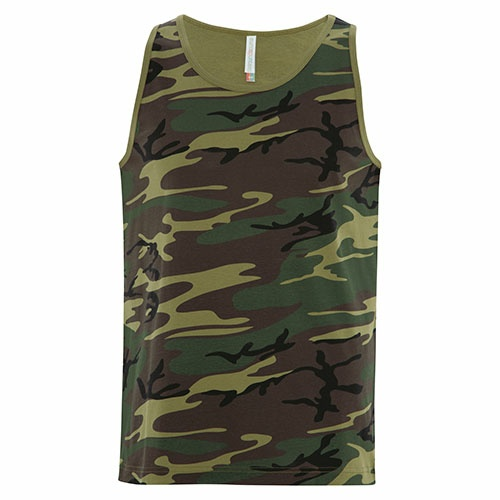 Custom Printed ATC8004 Eurospun Ring Spun Tank Top - Front View | ThatShirt