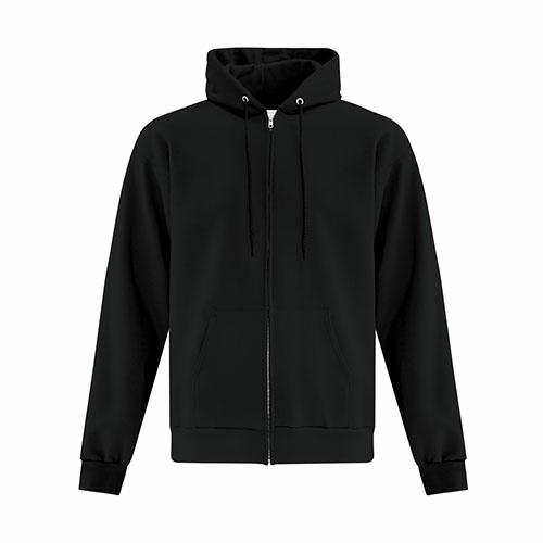 Custom Printed ATCF2600 Everyday Fleece Full Zip Hooded Sweatshirt - Front View | ThatShirt