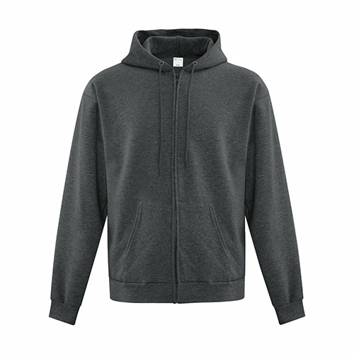 Custom Printed ATCF2600 Everyday Fleece Full Zip Hooded Sweatshirt - Front View | ThatShirt