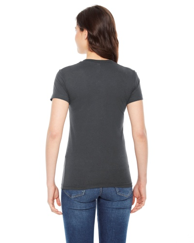 Custom Printed American Apparel BB301W Poly-Cotton Short-Sleeve Crewneck - 1 - Back View | ThatShirt