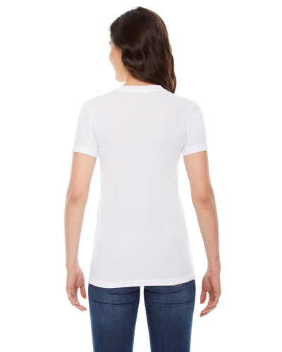 Custom Printed American Apparel BB301W Poly-Cotton Short-Sleeve Crewneck - 0 - Back View | ThatShirt