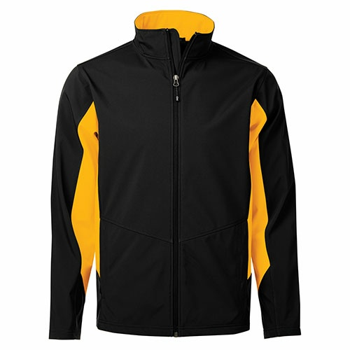 Custom Printed Coal Harbour J7602 Everyday Colour Block Soft Shell Jacket - Front View | ThatShirt